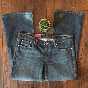 """AG stretch flare """"the club"""" jeans size 32R"""